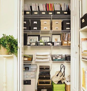 Pulled from Better Homes & Gardens via Pinterest http://www.bhg.com/decorating/storage/organization-basics/make-organizing-fun/?page=14#page=9