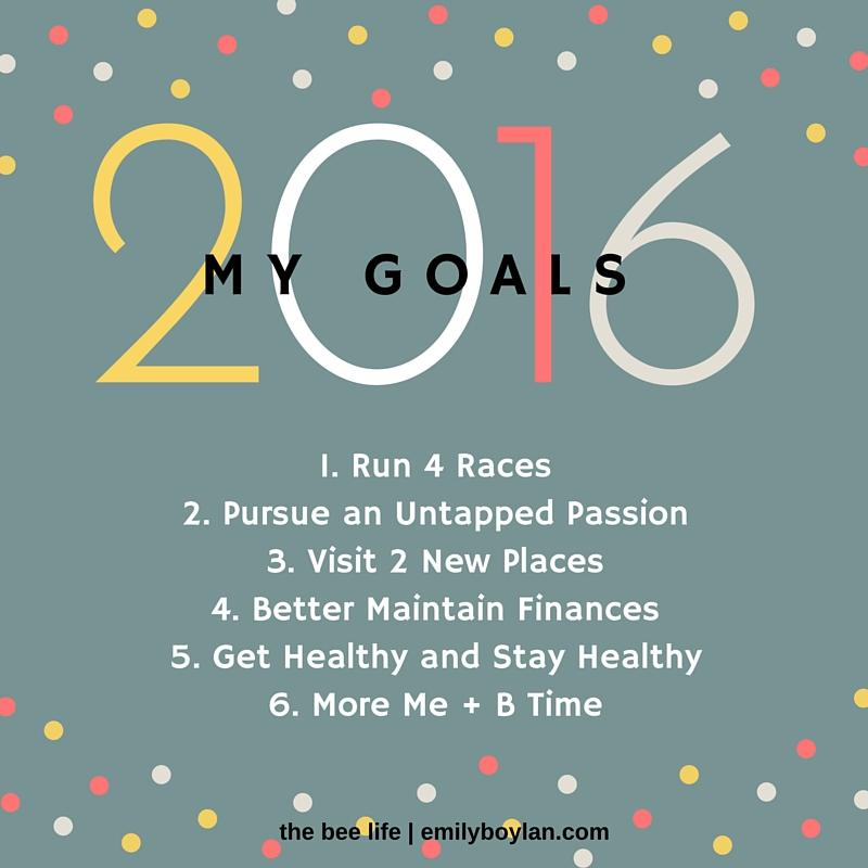 2016 Goals - the bee life - emilyboylan.com