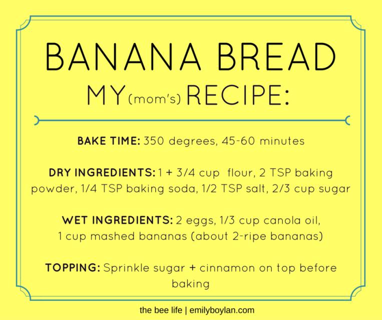 Banana Bread  Recipe - the bee life