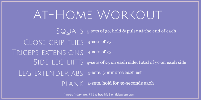 Fitness Friday 07 - the bee life