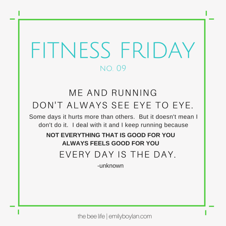 Fitness Friday 09 - Running - the bee life