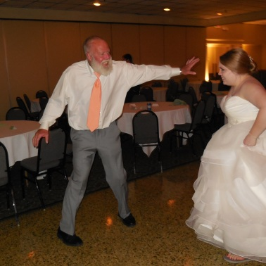 Katie & Her Dad dancing