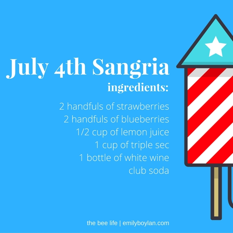 July 4th Sangria - the bee life