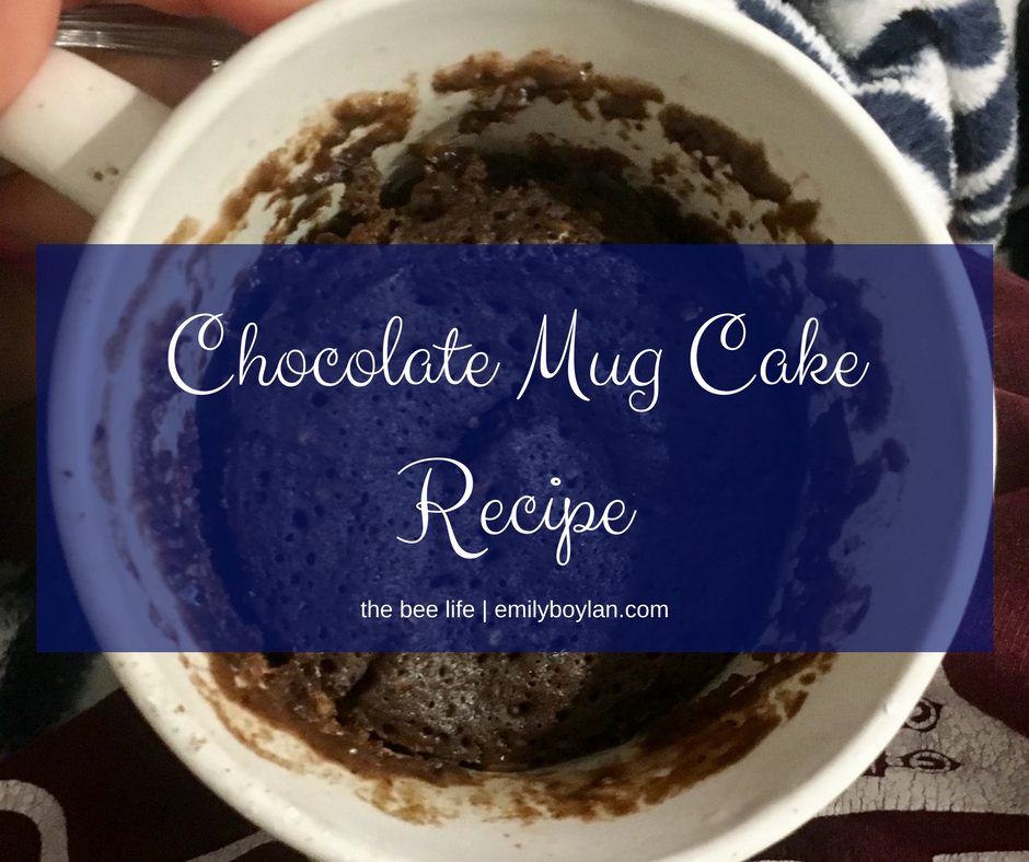 Chocolate Cake Mug Recipe - the bee life