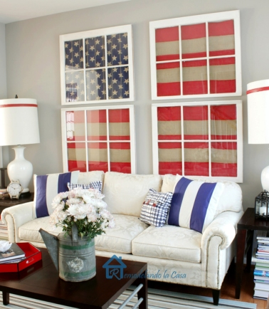 American Flag Decor (4) - the bee life