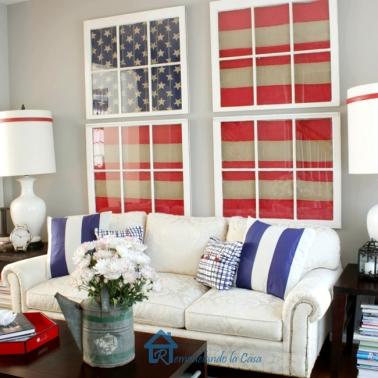 American Flag Decor (4) - the bee life