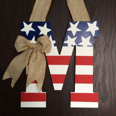 American Flag Decor - the bee life