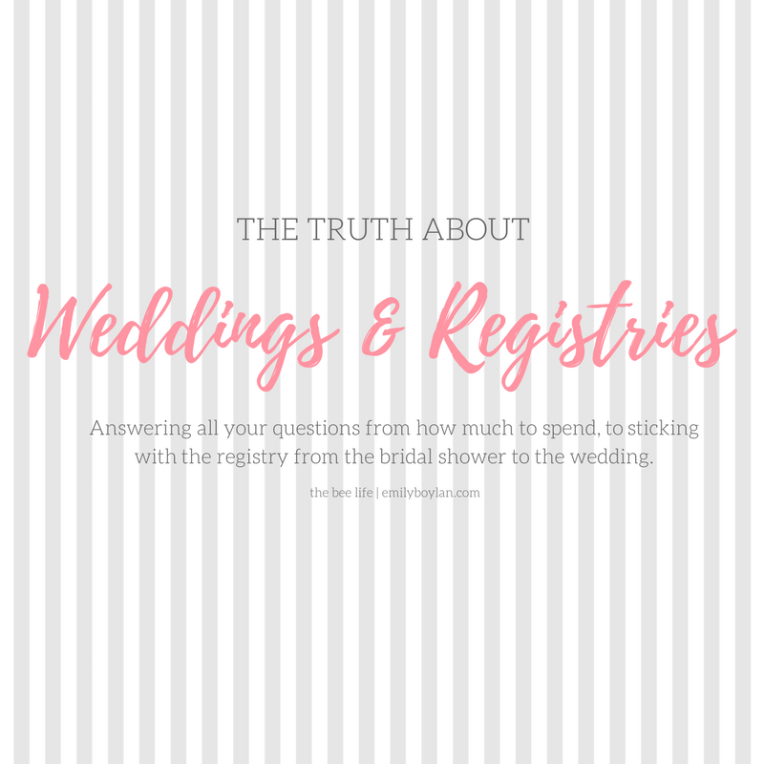 Weddings & Registries Guide - the bee life
