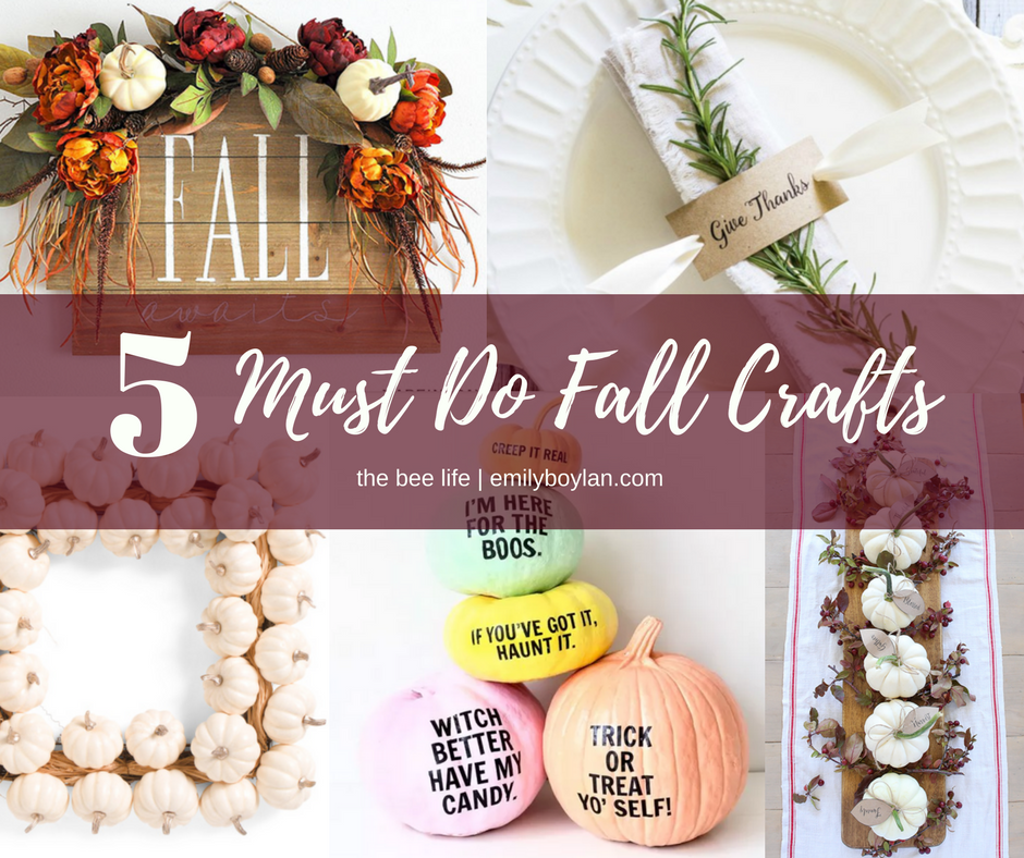 5 Fall Crafts - the bee life