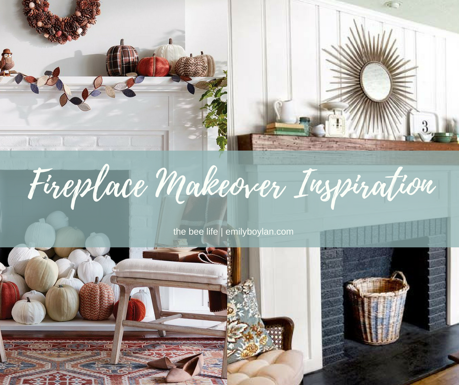 Fireplace Makeover Inspiration - the bee life