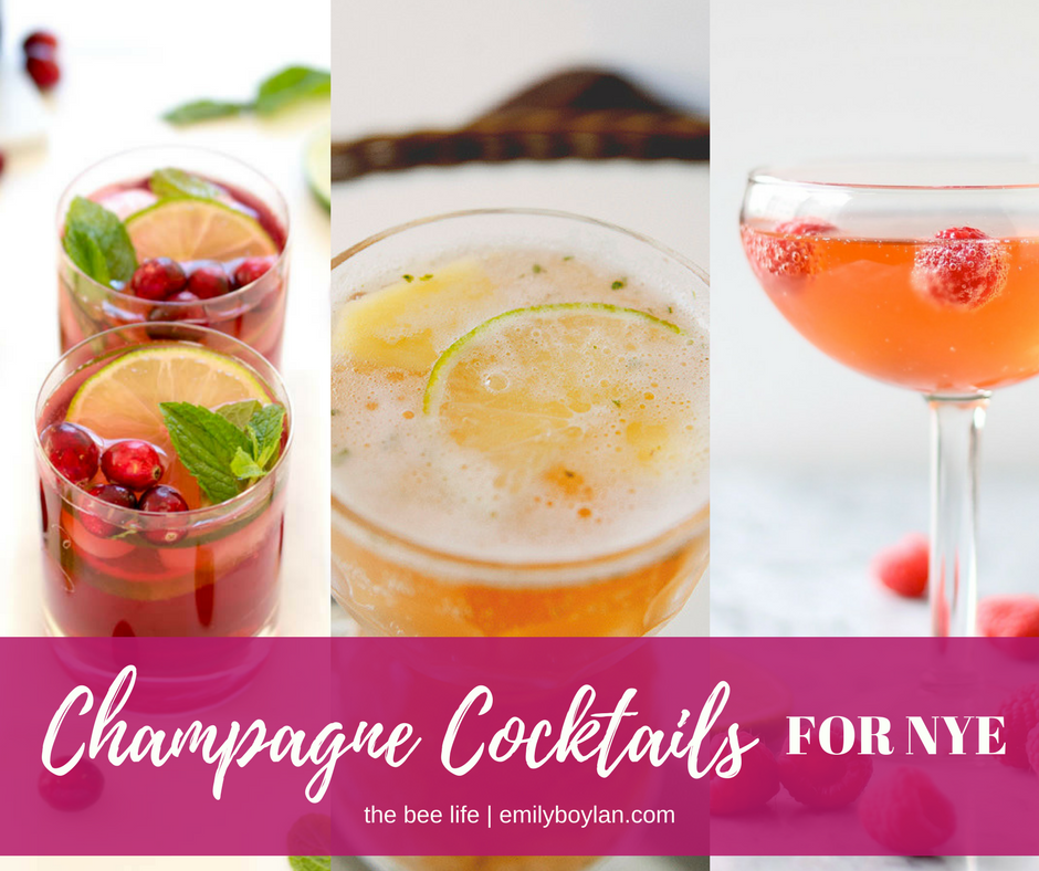 Champagne Cocktails - NYE - the bee life