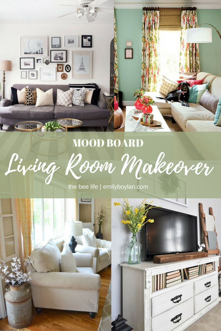 Sally's Living Room Makeover - Mood Board - the bee life