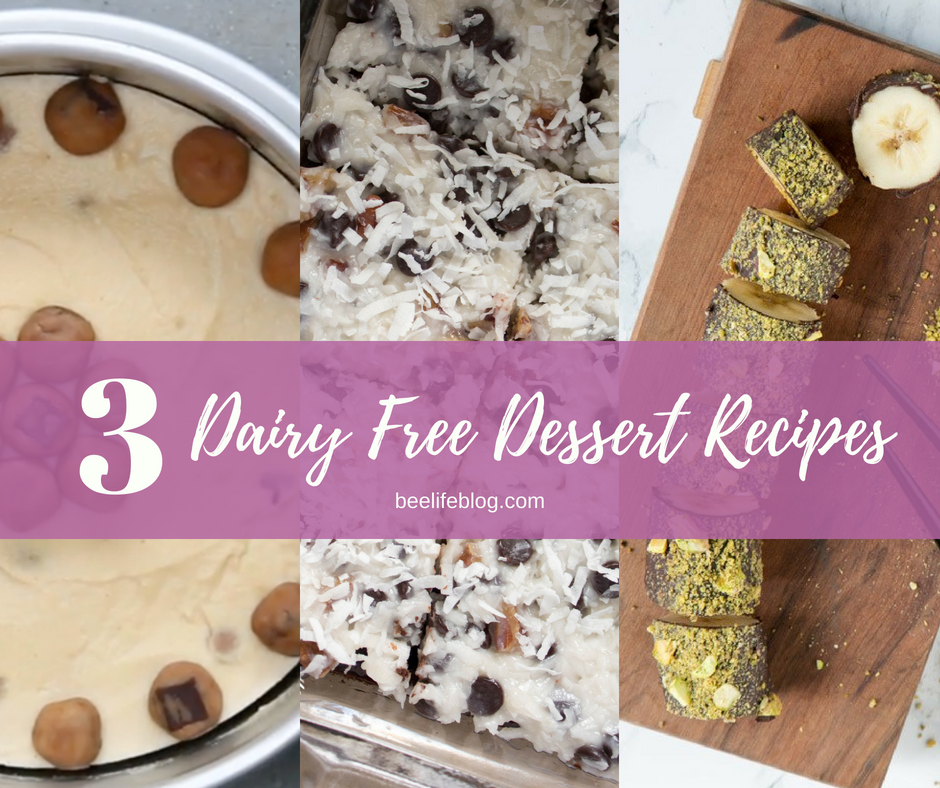 3 Dairy Free Desserts - the bee life