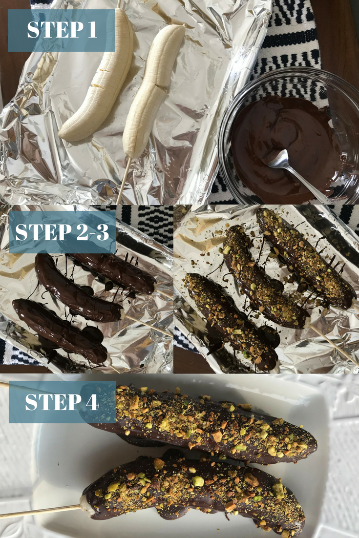 Choc Covered Bananas steps - the bee life