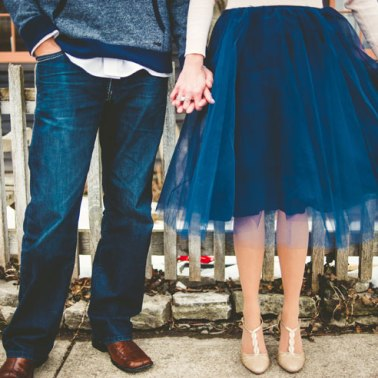 Adorable-winter-engagement-photo-of-bride-to-be-in-tulle-skirt-Rogue-Art-Photography