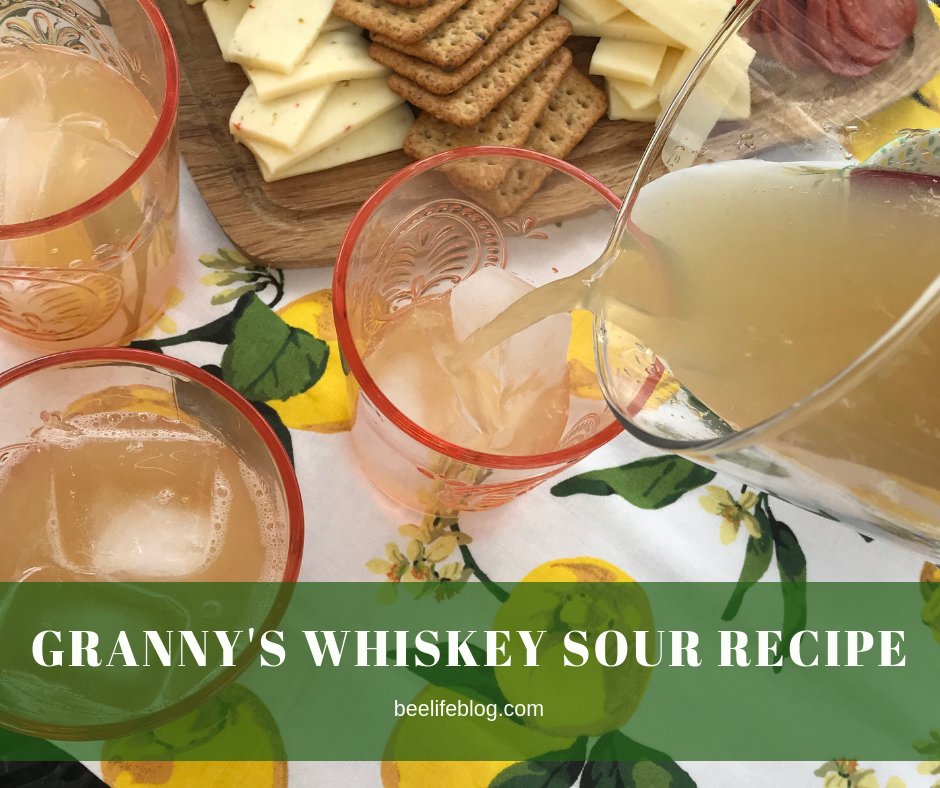 Whiskey Sour Recipe - bee life blog