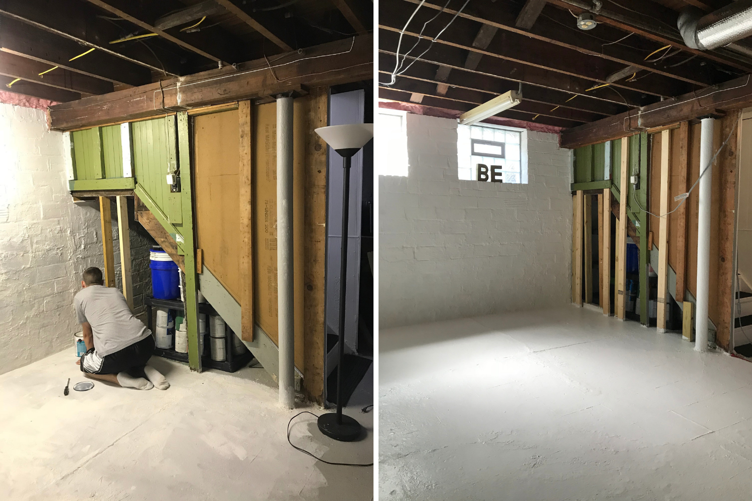 Basement Makeover - Checkin - the bee life (1)